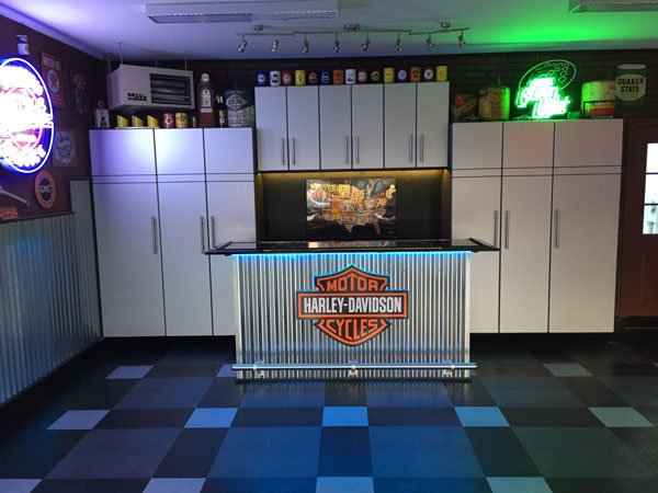 Harley Davidson Themed Custom Garage Storage System