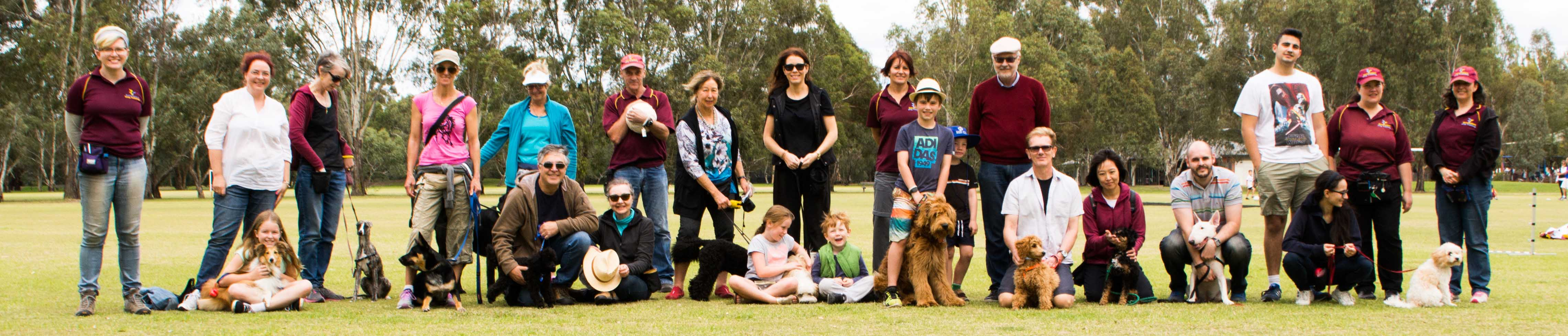 Boroondara Dog Training Group Photo