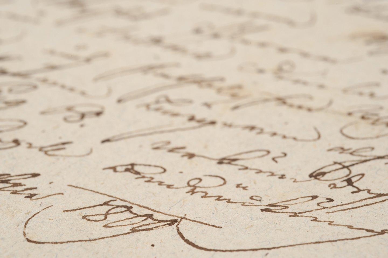 foglio di carta con scrittura del diciannovesimo secolo