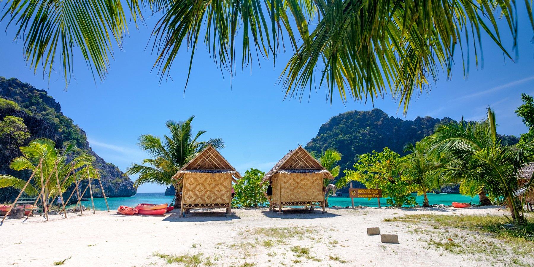 La sensazione di vacanza su un'isola tropicale