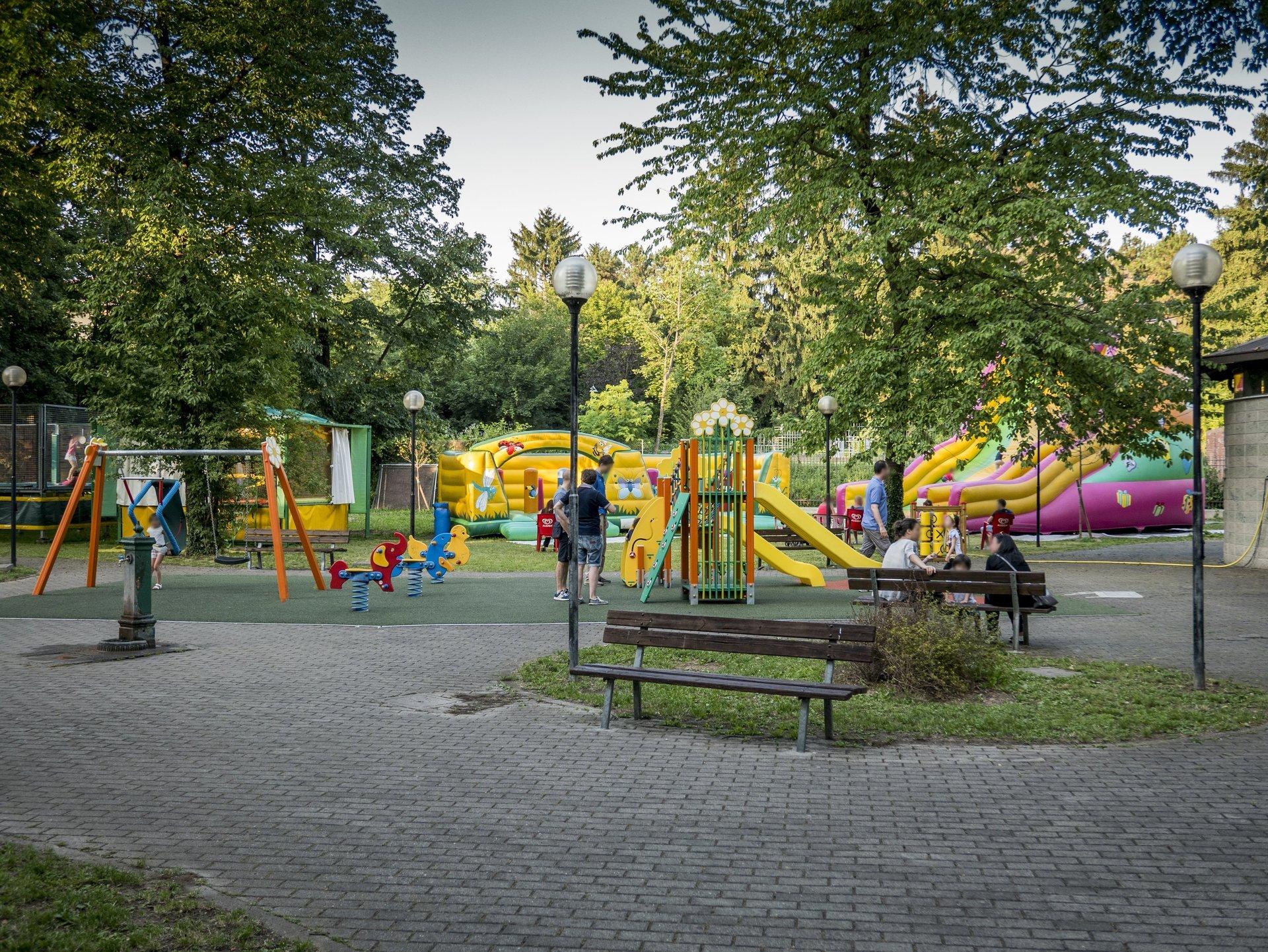 vista parco giochi