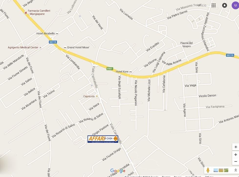 Mappa affari di casa Villaggio Mosè