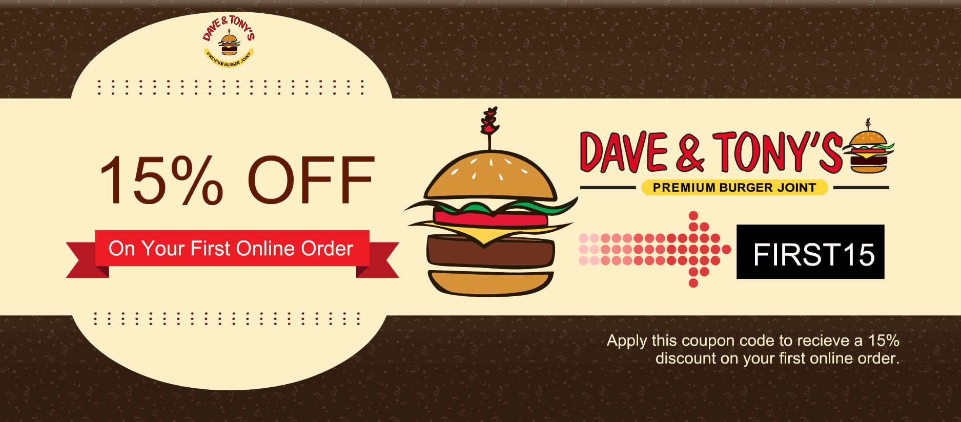 Dave and Tony's Online Order Coupon
