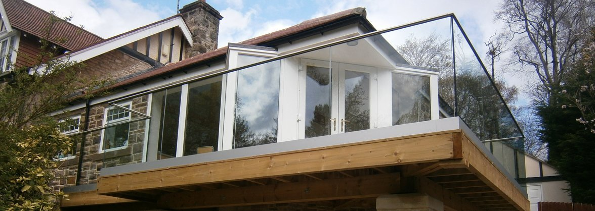 French doors on a balcony