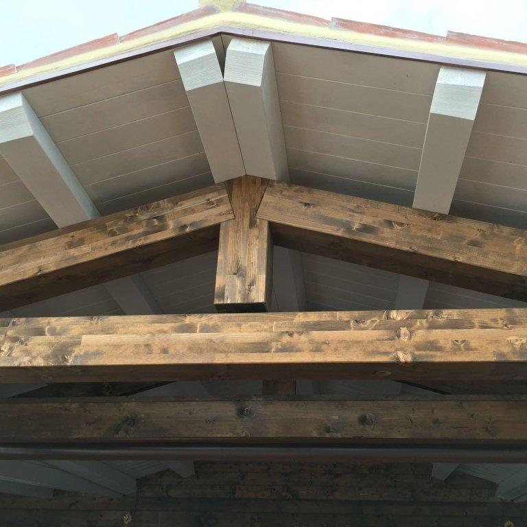 Tettoia legno Ristorante
