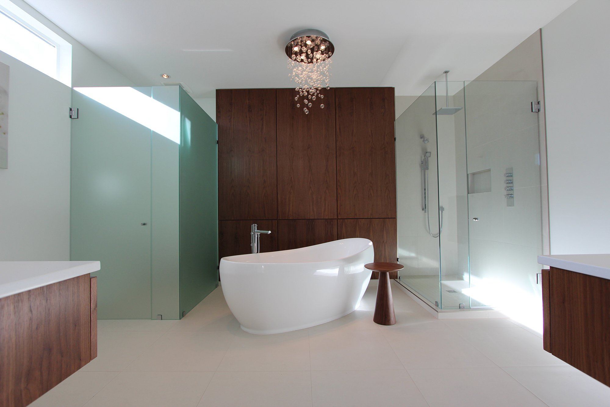 Interior of home bathroom