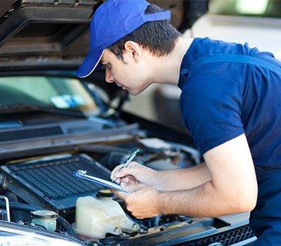 tee jay mechanical repairs man with logbook