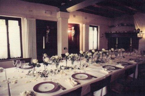 Sala preparata per matrimonio