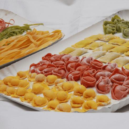 Vari tipi di pasta fresca