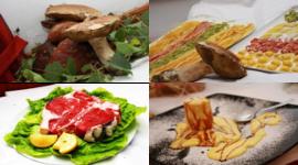 funghi porcini, pasta fresca fatta in casa, bistecca alla fiorentina, dolci fatti in casa