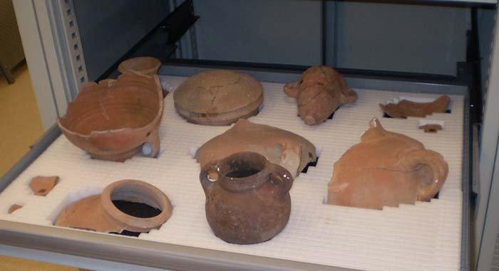 reperti storici in argilla