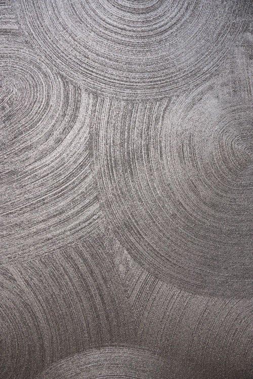Disegno di cerchi concentrici neri e bianchi retinati