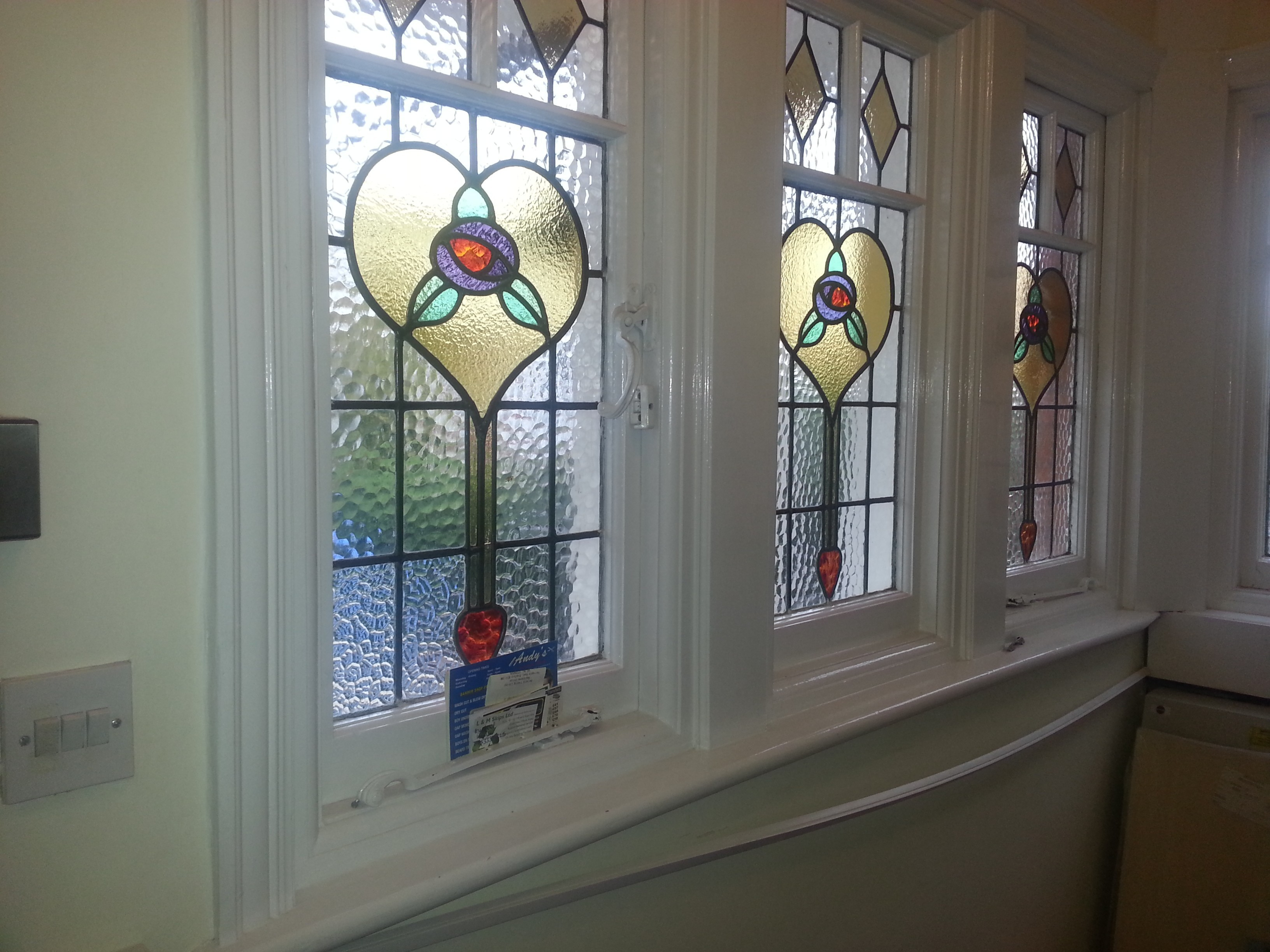 Coloured detailed windows