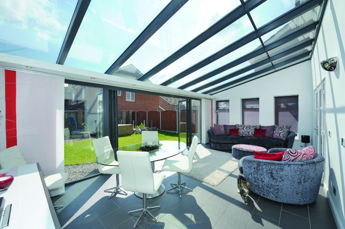 Large modern conservatory on a home