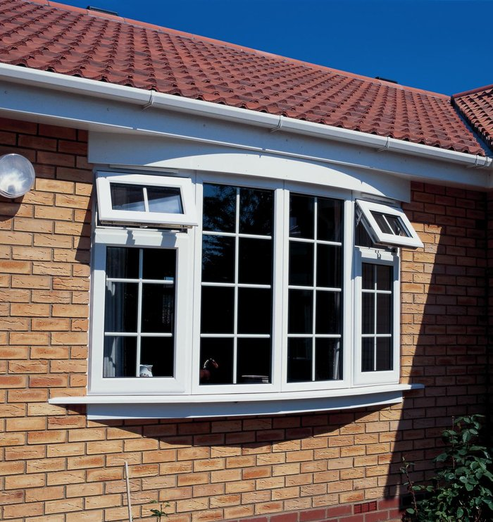 Double glazed white windows on a home