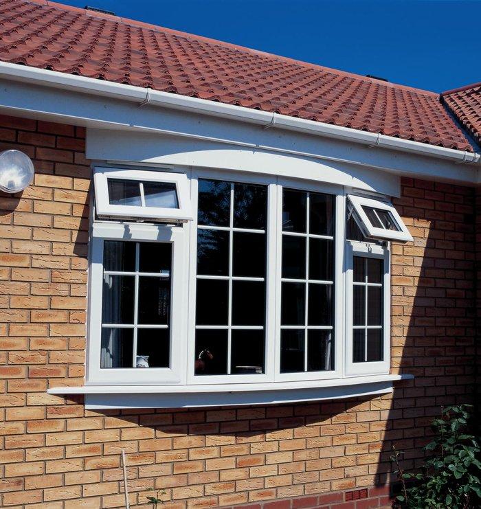 Double glazed white windows on a home