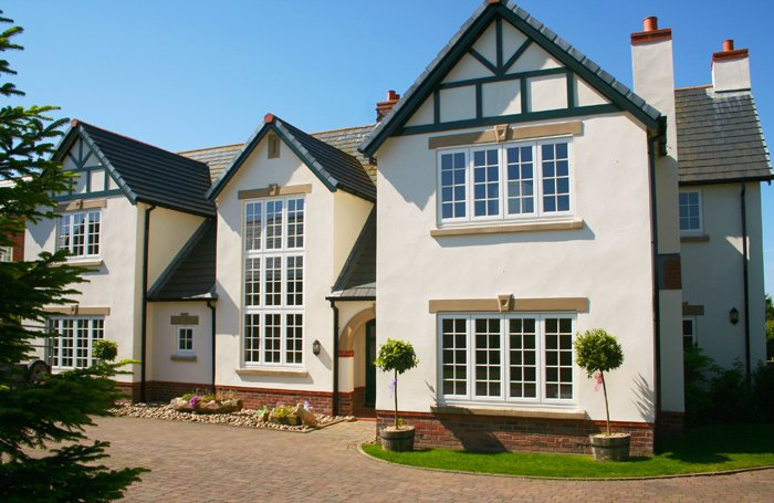 Large house with timber replacement windows
