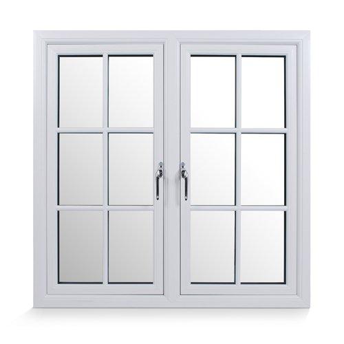 White triple glazed window