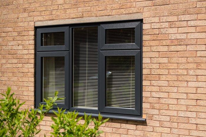 Black triple glazed windows