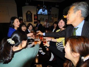 Cheers at Happy Hour in Nagoya