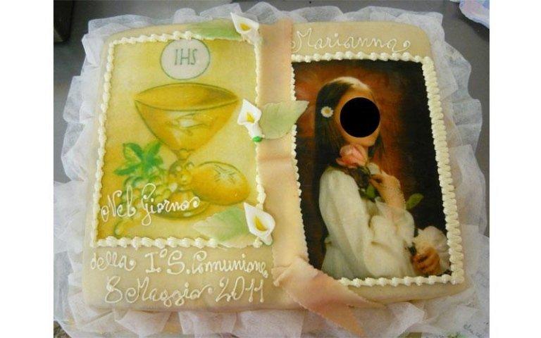 torta comunione foto