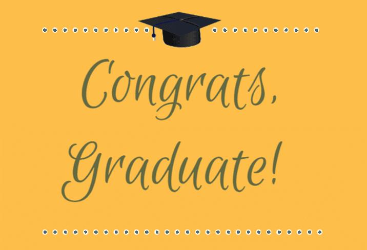 Congrats, Graduate! Sign