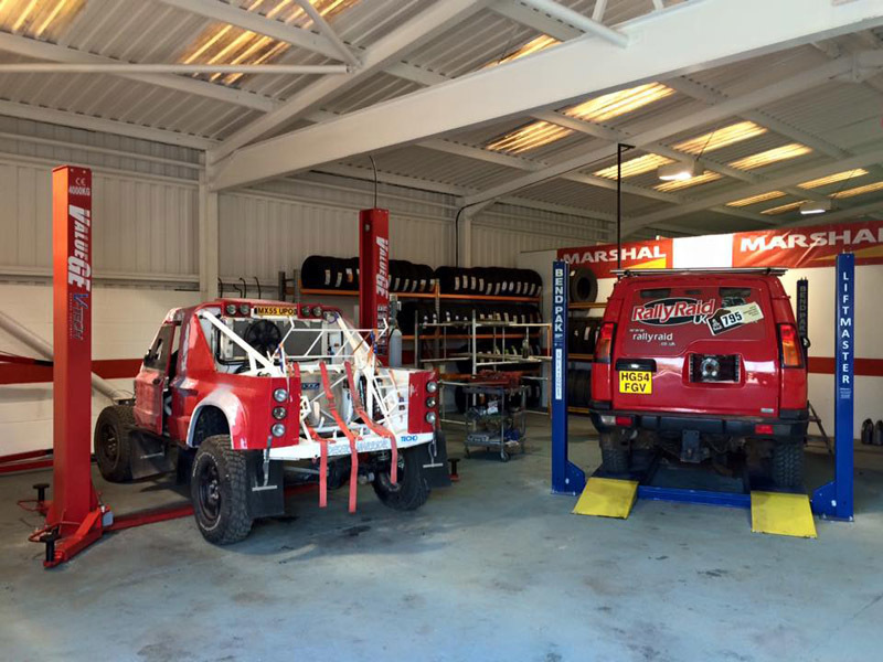 Vehicles for service in servicing section of 4x4 And More  in Huddersfield