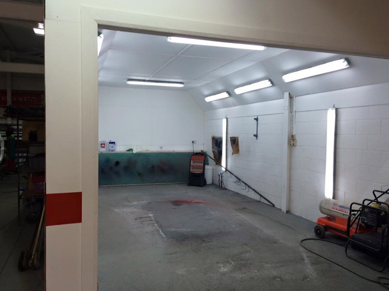 View of spray booth of 4x4 And More  in Huddersfield