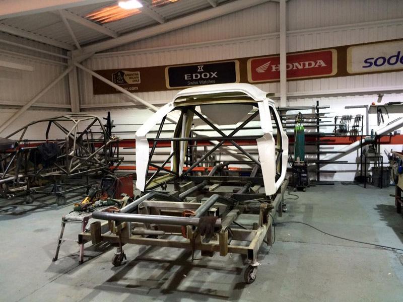 Auto repairing work under process at workshop in Huddersfield