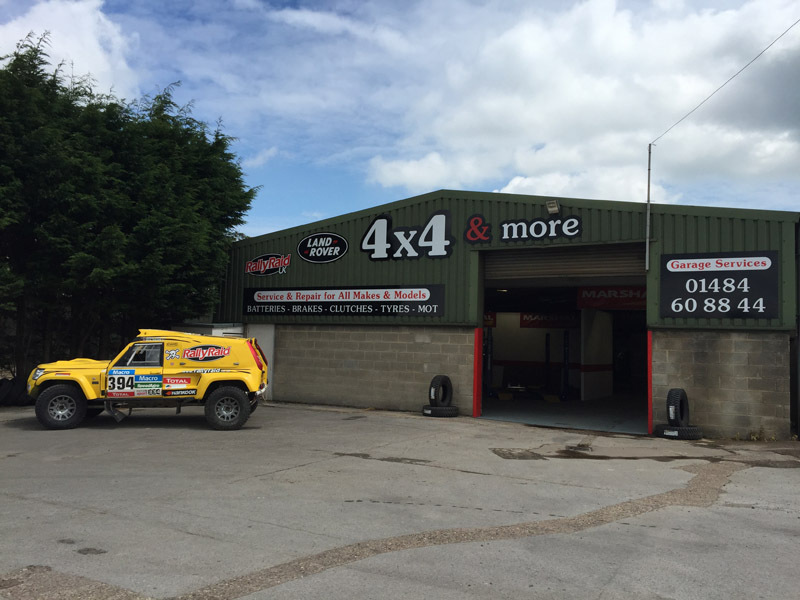 Front view of  4x4 And More workshop  in Huddersfield