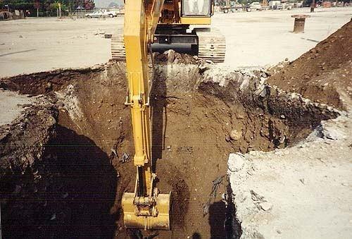 Ongong digging work