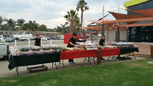 View of an event organised by Redback Mobile BBQ