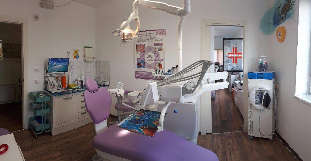 Studio di un dentista con attrezzatura tecnica