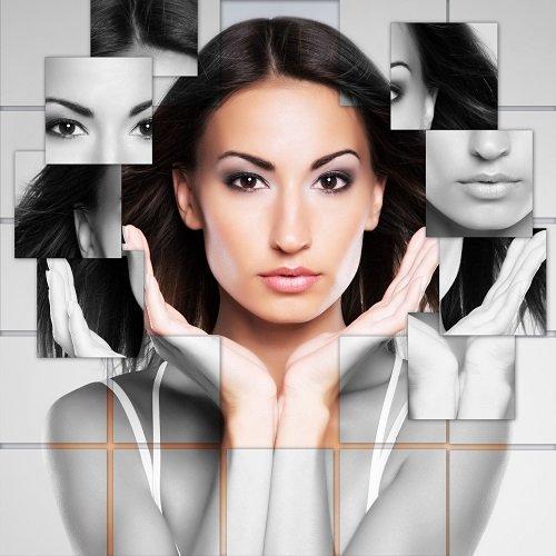viso di donna dopo seduta di make-up