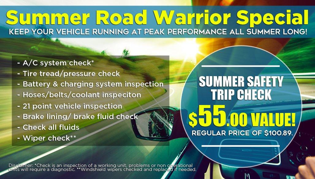 Chicago Auto Repair Road Trip Special