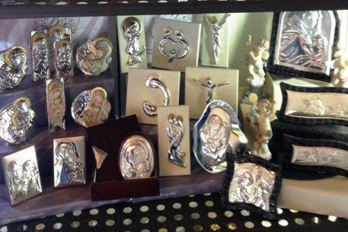 icone sacre in argento per battesimi e cerimonie