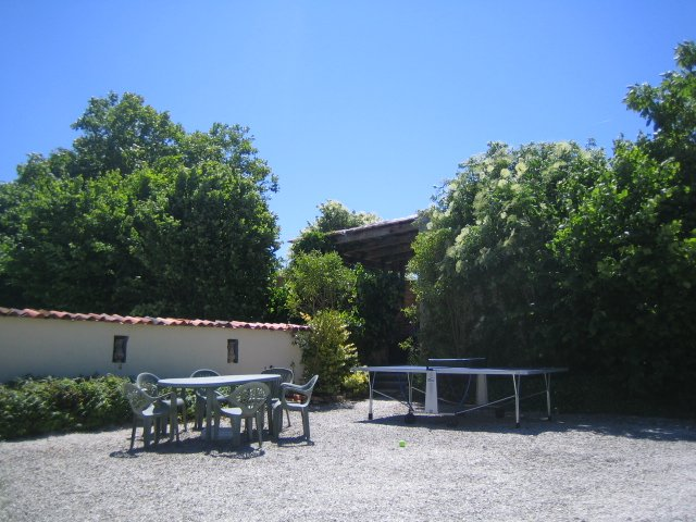 View of table tennis and pool area la grange du moulin