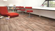 View of Vinyl flooring done by professionals