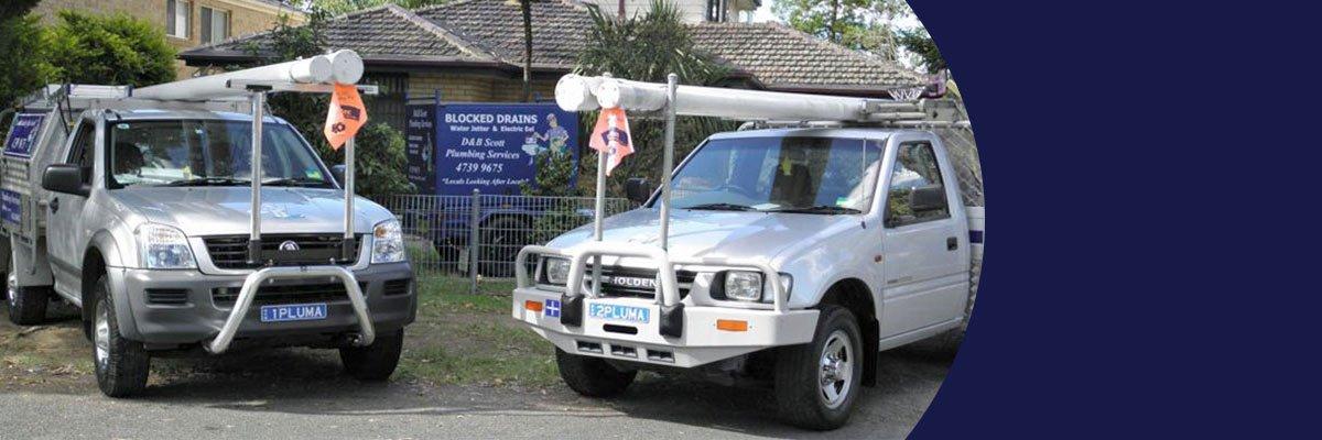 d and b scott plumbing services car
