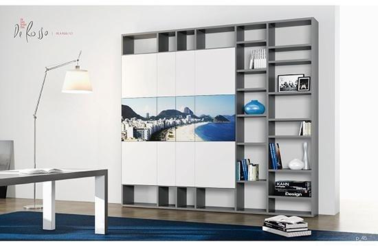 parete attrezzata componibile con cassetti