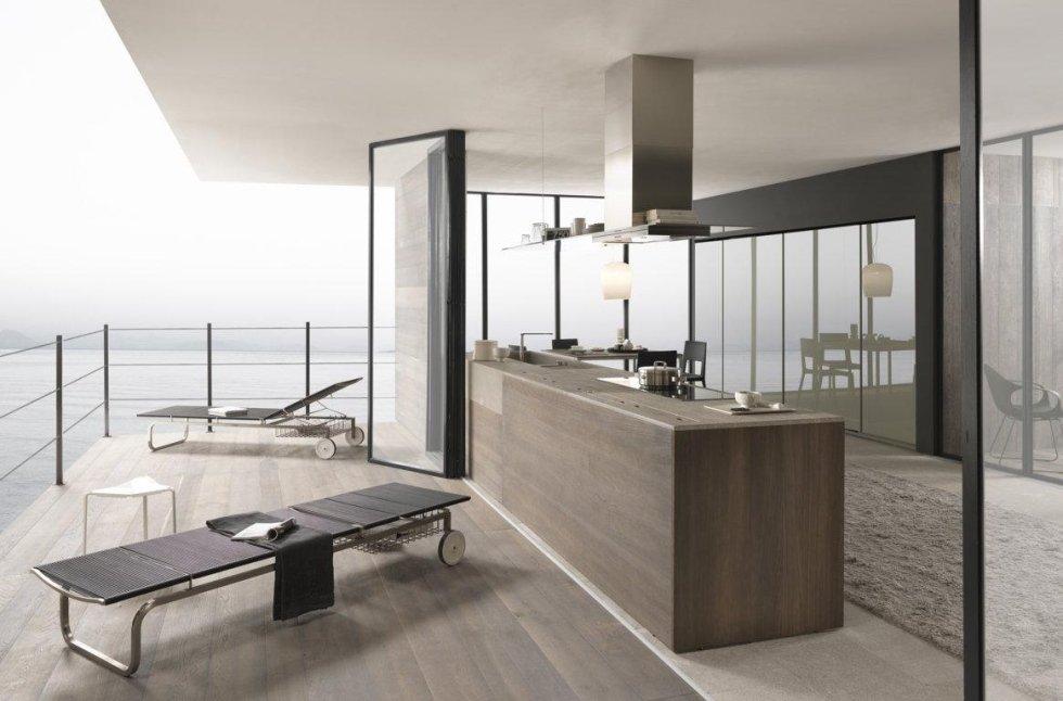 cucina moderna sulla mare