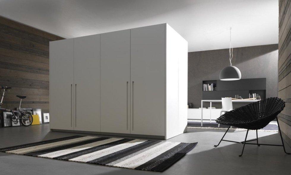 vista angolare armadio di cucina moderna di Modulnova bianco