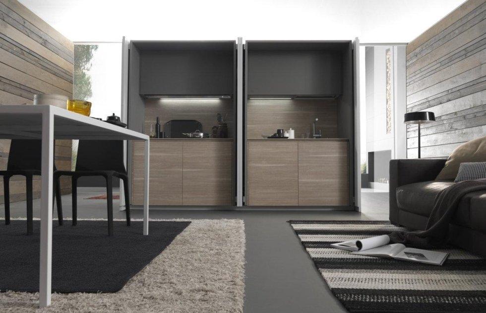 studio verticale armadio di cucina moderna