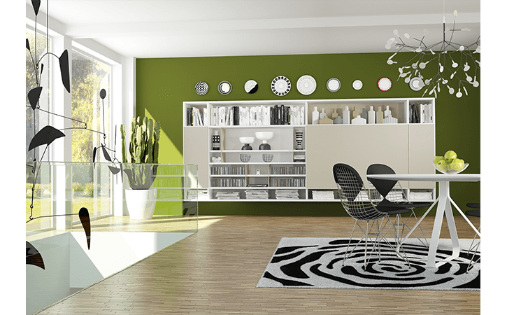 soggiorno verde