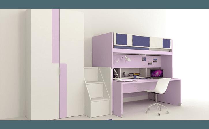 camera bambina lilla