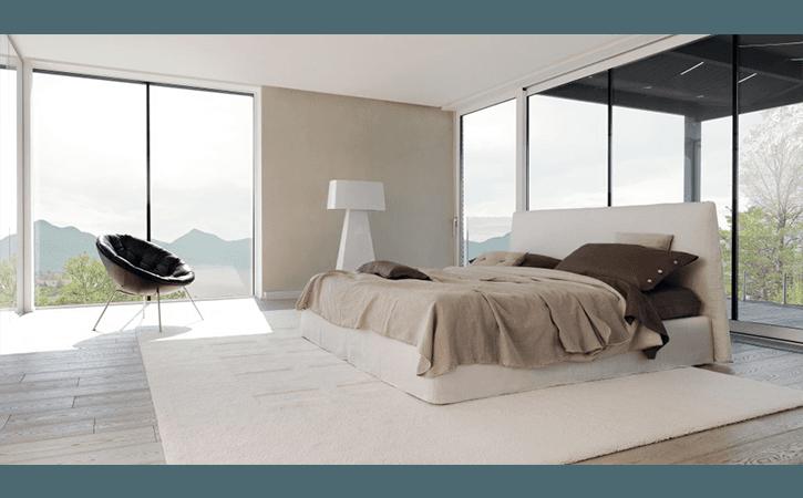 letto legno bianco