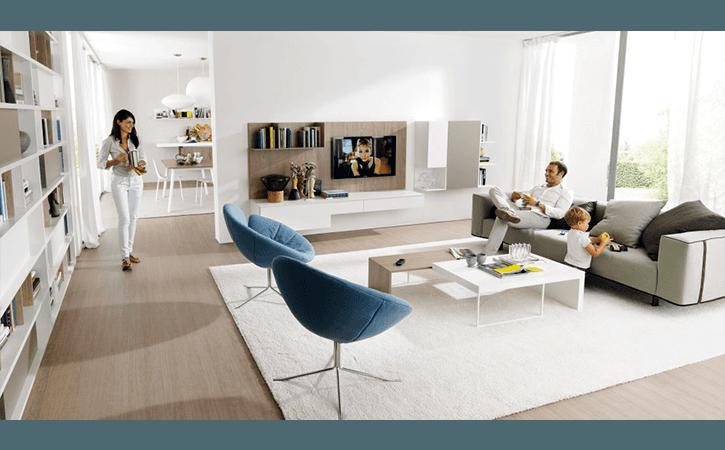 soggiorno stile minimal