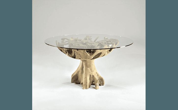 tavolino vetro e legno