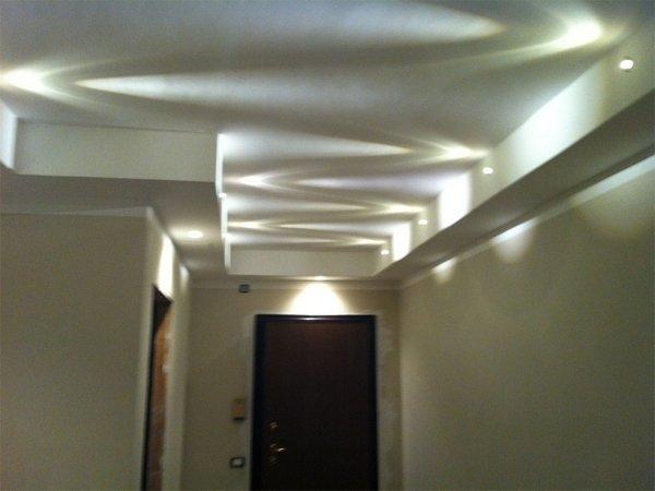 Illuminazione a faretti led per controsoffitti