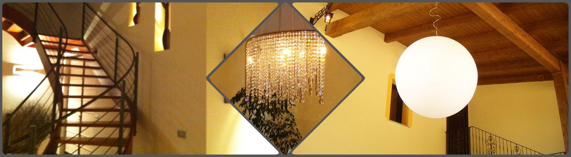 Progetti di illuminazione da interni e da esterni realizzati dalla F.A.L.C. Lampadari di Ciriè